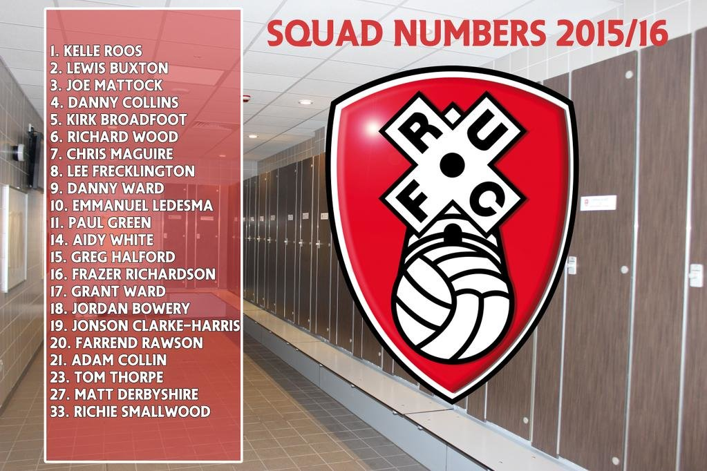 Rotherhams 201516 Squad Numbers What Do They Mean Millers Time